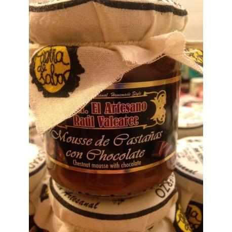 Mousse de castañas del Bierzo con chocolate S.A.T. El Artesano Raúl Valcarce