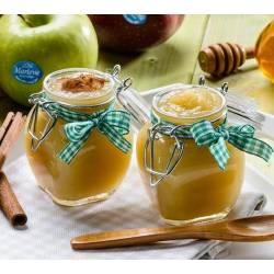 Mousse de manzana con canela y miel de castaño