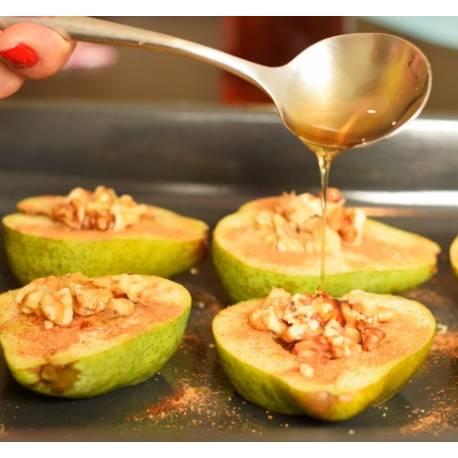 Recta de peras con miel y nueces del Bierzo