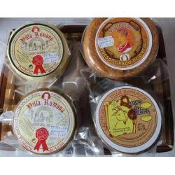 Cesta Regalo quesos artesanos Lácteas Villa Romana