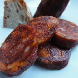 Chorizo de León picante embutidos Joman