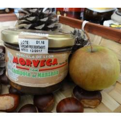 Morcilla de León con compota de manzana
