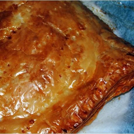 Receta de empanada de Morcilla de León y cebolla caramelizada