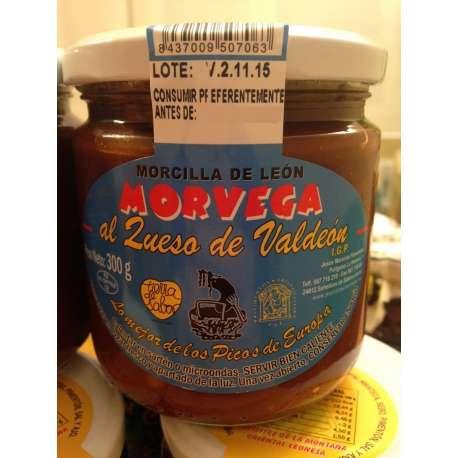 Morcilla de León al queso de Valdeón Morvega 300 grs.