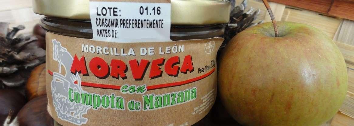 Morcilla de León Morvega con manzana